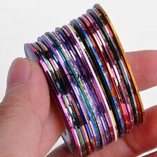 Nail Art 30Pcs Striping Tape Stickers Rolls Pretty Decor DIY Lots Acrylic TXGT