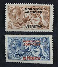 Ckstamps: Great Britain Morocco Stamps Collection Scott#55 57 Mint H Og