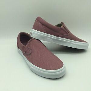 """Vans Men/Women's Shoes ''Classic Slip-On""""--(Herringbone)Nstlgrstrwht"""