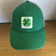 Shamrock  Kelly Green w/ Gray Ball Cap Hat    Wild Clover Mesh Back  Adjustable