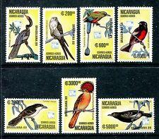 Nicaragua C1172-78 MNH, Birds: Anhinga, Great Antshrike 1989, x19066