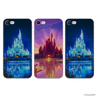 Disney Château Coque/Etui/Case pour iPhone 5/5s/SE/6/6s/7/8/Plus / Silicone Gel
