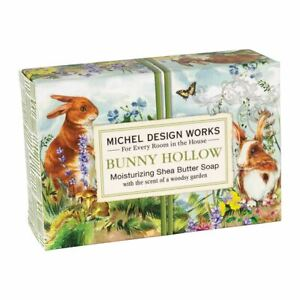 Michel Design Works Bunny Hollow Shea Butter Soap Bar ~Woodsy Garden Scent~
