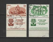 ISRAEL 2 timbres oblitérés 1960 année Mondiale des réfugiés /T2932