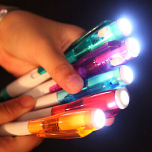 Multifunctional Ballpoint Ball Point Pen With LED Light Stationery F0U8 P0R5