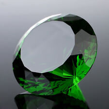 200mm Huge Crystal Diamond Green Glass Paperweight Ornament Table Decor Favors