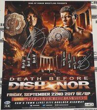 Cody Rhodes Minoru Suzuki Signed 16x20 Photo BAS COA New Japan Pro Wrestling ROH