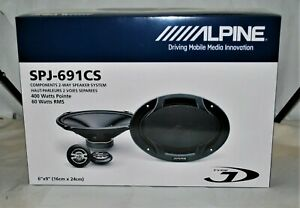 "Alpine SPJ-691CS 6X9"" 400 Watt Coaxial 2-Way Car Speakers Brand New"