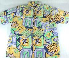 c3c8f0e7 VTG 90s Gotcha Men L Hawaiian Shirt - Surf Skate Floral Plants Psychedelic