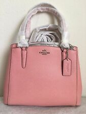*COACH 57847 PINK Crossgrain Leather Minetta Handbag Crossbody Bag Purse*eBucks