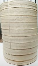 10 Pcs 2.5 cm or 25 mm X 50 m Natural Cotton Bunting Tape UK SELLER-SUPER SALE!!