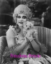 """THEDA BARA 8X10 Lab Photo B&W 1917 """"MADAME DU BARRY"""" """"WITZEL"""" PERIOD FILM"""
