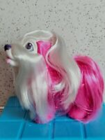 Vintage 1989 Hasbro Sweetie Pups Pink and White Shih Tzu VGUC