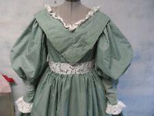 Dickens Green Plaid Pioneer Tartan Civil War Dress sz 14