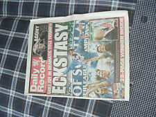 dail record newespaper  rangers / celtic hellicopter sunday 23 may 2005