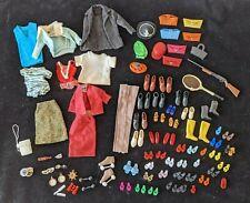 HUGE Vintage 1960s BARBIE Doll Accessories Lot Clothes JAPAN Heels Mules Ken Etc