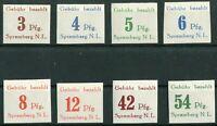 Deutsche Lokalausgabe Spremberg Nr. 7 B - 14 B postfrisch geschnitten
