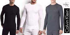 Calvin Klein Men's T-Shirt Long Sleeve Micro Modal New Ck U1139 Crew Neck Nice