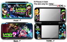 Luigi 's Mansion Dark Moon Skin Sticker Cover Decal for NEW Nintendo 2DS XL