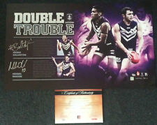 HAYDEN BALLANTYNE MICHAEL WALTERS FREMANTLE DOCKERS HAND SIGNED LIMITED PRINT