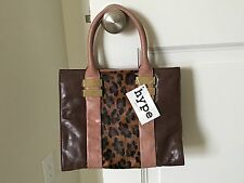 With Tag Hype Harrison Color Block Top Handle Satchel Cameo Calf Hair
