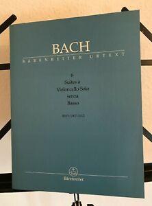 Bach: Cello-Suiten (Noten- und Textband, 5 Faksimilehefte)