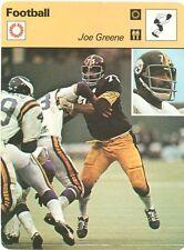 JOE GREENE 1977 Sportscaster card #12-09 PITTSBURGH STEELERS