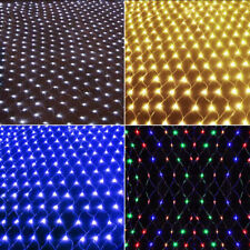 LED String Fairy Lights Christmas Lamp Net Mesh Curtain Wedding Party Xmas Decor