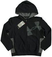 Under Armour Boys/Youth Size XS Woven Warm Up Jacket Black (001) Windbreaker