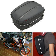 Universal Motorcycle Tail Bag Helmet Backpack Luggage Case 12-22L w/ Rain Cover