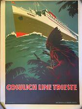Vintage Original Poster Italian Boat Travel Poster