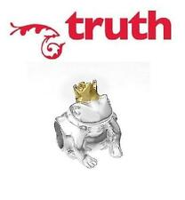 Genuine TRUTH PK 925 sterling silver and gold frog prince charm bead, cute!