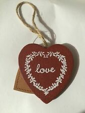 Sass & Belle Shabby Chic Love Red Wooden Hanging Valentine Heart Cute Gift