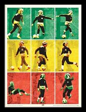More details for bob marley - football - 30 x 40cm framed poster print fp11788p