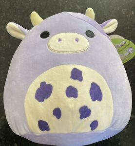 Bubba Purple Cow Squishmallow BNWT 9.5 Inch 2021 Easter IN HAND