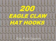 200 EAGLE CLAW HAT HOOKS Hat Pin/Tie Clasp GOLD PLATED FISH HOOK HAT PINS #155