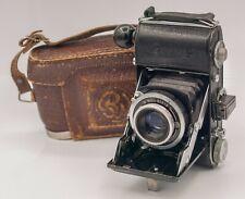 BW Belca Beltica 35mm Film Folding Camera - Ludwig Meritar 50mm F2.9 Lens & Case