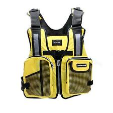 Jacket Kayak Fishing Life Aid Sailing Boat Buoyancy Vest Camouflage - Yellow