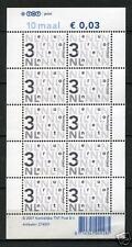 Nederland NVPH V2466cc Nikkels 10x 0,03 euro TNT logo L Fosfor Postfris