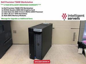 Dell T3600 Workstation, Xeon E5-1603 2.80GHz, 8GB DDR3, 1TB HDD, Quadro 4000