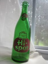 "Canada Dry Hi-spot Green Glass Lemon Soda Bottle ACL Toronto CA 12 fl oz 9.25"" T"
