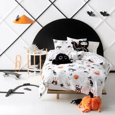 Hiccups Scaredy Cat Double Bed Size Duvet Doona Quilt Cover Set