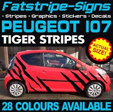 PEUGEOT 107 TIGER STRIPES GRAPHICS DECALS STICKERS VINYL GTI PUG 1.0 1.4 CITY