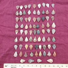 76 Piece 1-1.5 Inch Arrowhead Project Spear Points Knife Blade Collection Indian