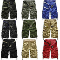 Mens Combat Work Camo Military Army Trouser Tactical Cargo Outdoor Shorts Pants