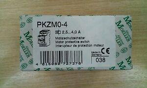 New Klockner Moeller PKZM0-4 Circuit breaker/Motor protector/Overload 2.5-4A