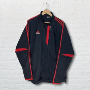 Adidas Predator Style Mens Tracksuit Jacket Black Trackie Top Size XLarge