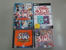PC 5 LOT THE SIMS CD ROM DELUXE UNLEASHED SUPERSTAR SUPERSTAR HOUSE PARTY