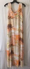 CITRON Multicolored Rayon Tropical Print Long Dress Sz M