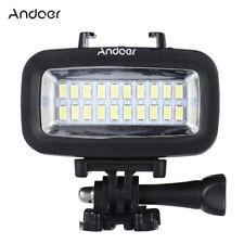 Diving Video Fill-in Light LED Lamp Waterproof 40M+Diffuser fr Go Pro SJCAM M3T7